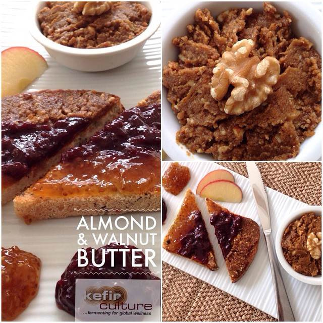 Whey fermented almond and walnut butter