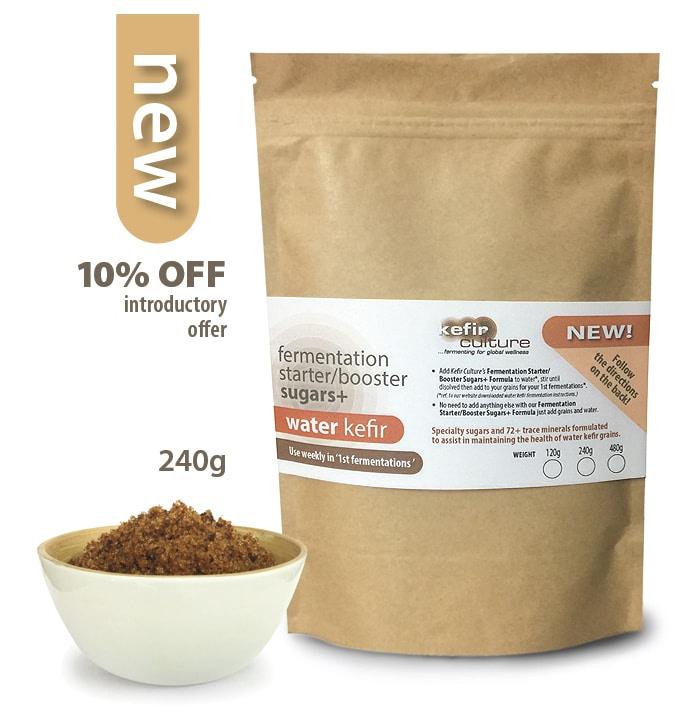 Water Kefir Fermentation Starter and Booster Sugars+ 240g